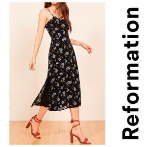 New REFORMATION Cassandra Floral Dress